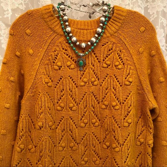 SONOMA *NWOT Golden Mustard Bobble Pattern Sweater